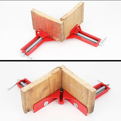 4X 90° RIGHT Angle Clamps Miter Picture Frame Corner Clamp Holder 3 ...