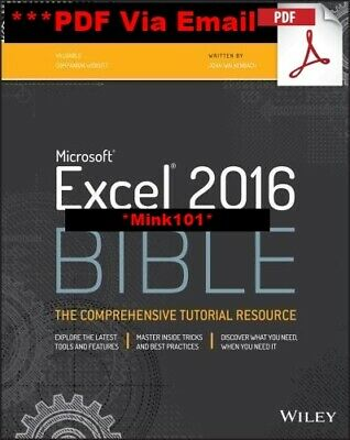 Microsoft Excel 2016 Bible: The Comprehensive Tutorial Resource (ebook_pdf)