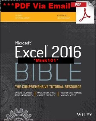 Microsoft Excel 2016 Bible: The Comprehensive Tutorial - DIGITAL EDITION (PDF)