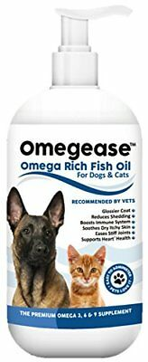 Omegease Omega 3, 6  9 Fish Oil for Dogs and Cats, 16 Ounces
