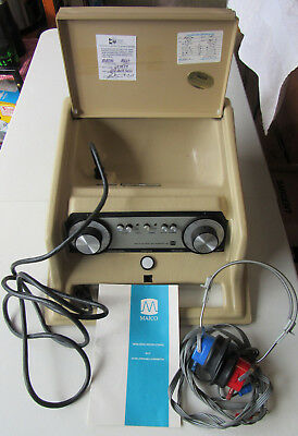 MAICO Model MA 27 Portable Screening Audiometer Complete Unit Tested & Working