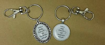 Father of bride keyring wedding gift today a bride tomorrow a wife