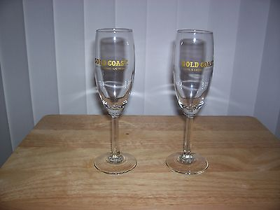 New In The Box Las Vegas Champagne Glass Set ( 2 Beautiful Crystal Stem Glass )