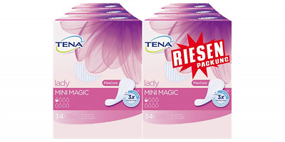 Tena Lady Mini Magic Lot de 6 paquets de 34 protège-slips pour fuites urinaires