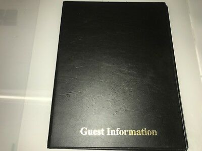Guest Information  Pvc Folder 7 A4 Double Pockets Ref Black/Gold