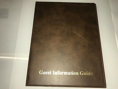 GUEST INFORMATION guide PVC FOLDER 7 A4 DOUBLE POCKETS REF mid BROWN/GOLD