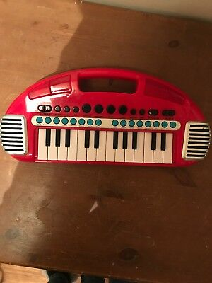 Elc Early Learning Centre Red Piano Keyboard Carry Along With Light