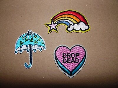 Embroidered Iron on Rainbow Unicorn Sew on  Patches Many designs Airsoft