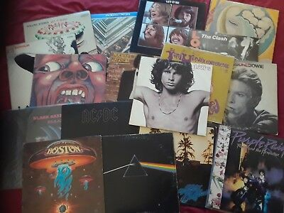 Record album grab bag. Zeppelin, Beatles, stones. Getting rid of collection.