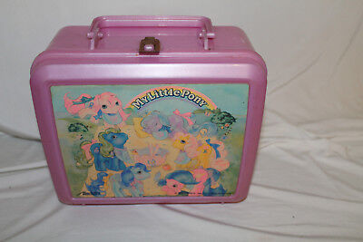 1989 Vintage Hasbro My LIttle Pony Plastic lunchbox 1989 Thermos Brand