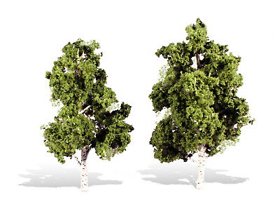 """NEW! Woodland Scenics TR3537 Premium Trees™ WATER'S EDGE  (6"""", 7"""" Package of 2)"""