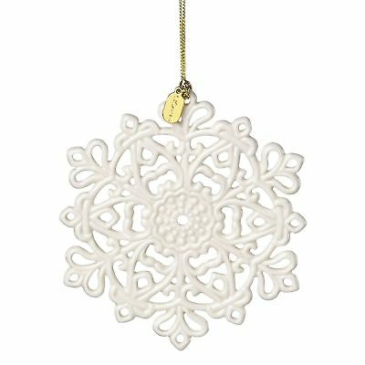 Lenox Annual China Ornaments 2017 Snow Fantasies Snowflake Crafted of Porcelain