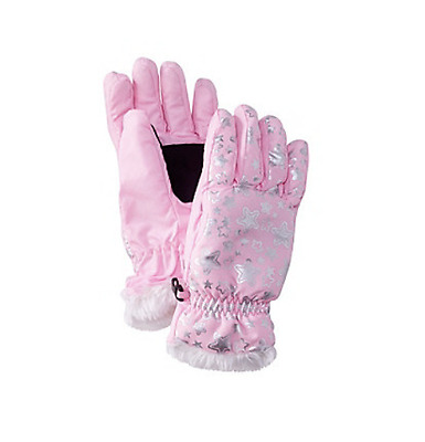 Mambo Girls Winter Gloves Glitter Star Pink NEW Children Kids Warm Size 7-16