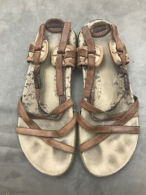 9f0754092be3 Merrell San Remo Brown Leather Strappy Sport Sandals Womens Size 8  N24