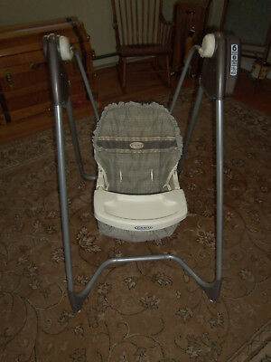 GRACO 2 SPEED Open Top Baby Portable Swing PLASTIC SEAT Replacement ...