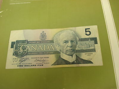 1986 - Canada five dollar bill - $5 Canadian note - ANS8753811