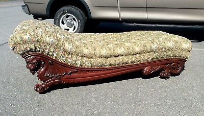 Victorian Carved Griffin Chaise Lounge/fainting Couch. Horner Karpen. 1890s