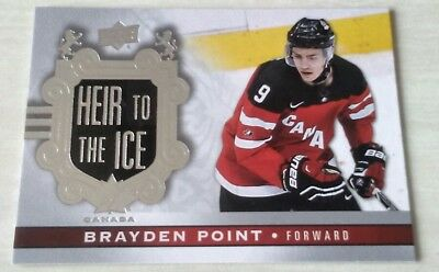 2017 2018 #142 Point Heir to the ice SP Canadian Tire upper deck team Canada