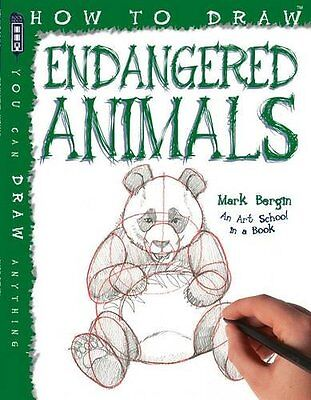 How to Draw Endangered Animals New Paperback Book Mark Bergin
