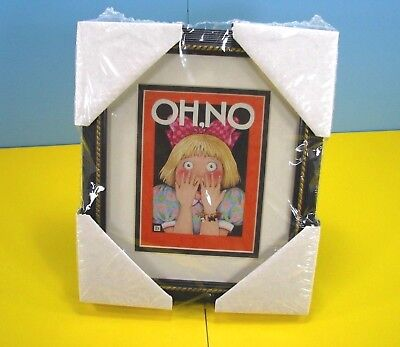 """Mary Engelbreit """"oh No"""" Print Framed And Matted - New In Package From 1996"""