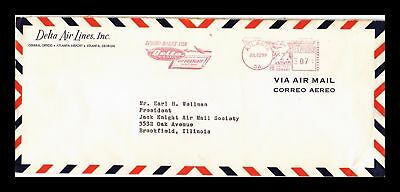 Dr Jim Stamps Us Delta Metered Air Mail Legal Cover Pictorial Cancel Atlanta