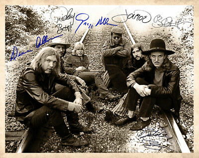 THE ALLMAN BROTHERS BAND 1969 8x10 Photo Autographs RP