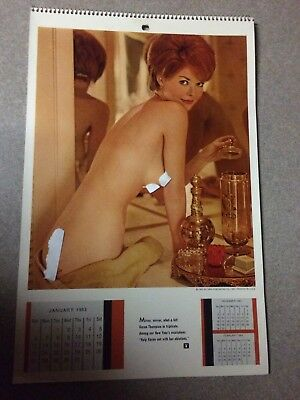 Vintage 1963 Playboy Wall Calendar 6Th Issue Christa Speck Rare ! Wow !!