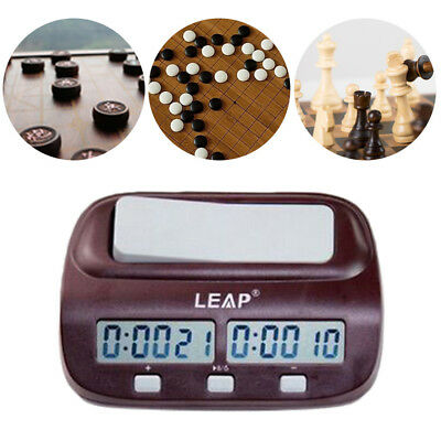 LEAP PQ9907S Digital Chess Clock Count Up Down Timer For Game Competition Clock*