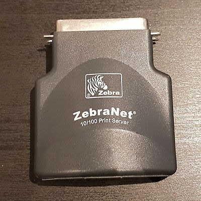 USED Zebra Print Server External 10/100 Parallel to Ethernet Adapter #1131