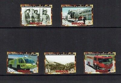 Barbados: 2003 50th Anniversary of Barbados Fire Service, MNH set