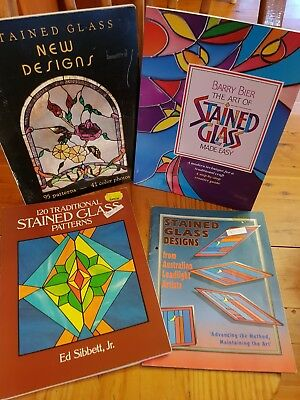 4 Pattern Books Leadlight Stained Glass