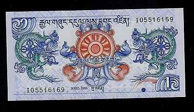 Bhutan 1 Ngultrum 2006  Pick # 27 Unc.