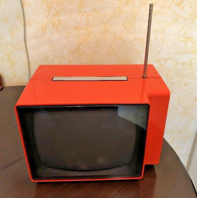 EUROPHON Apollo 3000 vintage televisione space age rare televisore radio orange