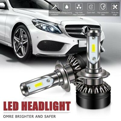 Pair H7 LED Headlight Kit 6000LM 6500K All-in-One Conversion Kit For Hyundai