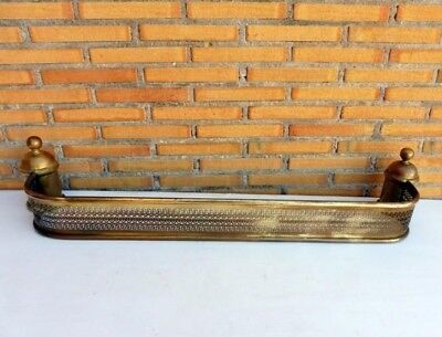 """Large 41,73"""" Antique Brass Andirons Saves Ash Front Fireplace"""