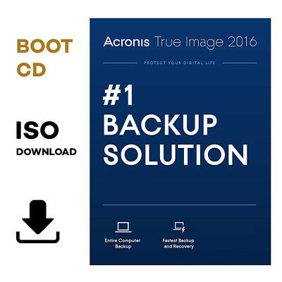 ACRONIS TRUE IMAGE 2016 - BOOT CD ISO 🔹 DOWNLOAD 🔹 Multi-lingual, PC  Backup