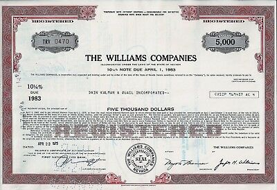 The Williams Companies, Nevada, 1975, 10 1/4% Note due 1983 ( 5.000 $ )