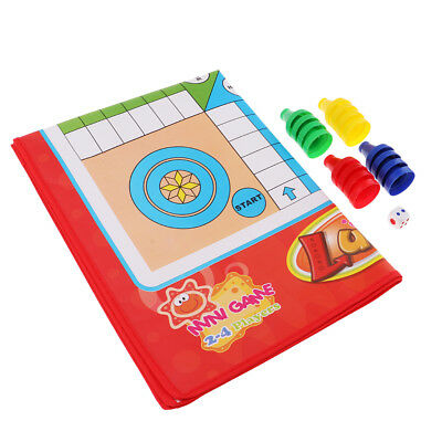 Non-woven Classic Dice Ludo Board Game Intelligence Games for Kids and Adult