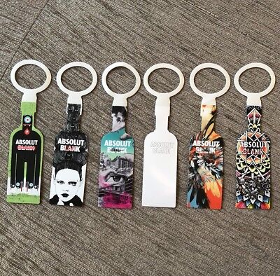 Absolut Vodka Blank Tag Set Of All 6. Limited Edition. Bottle Necktag