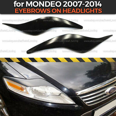 Eyelids Eyebrows on headlights for Ford Mondeo MK4 2007-2014 covers ABS plastic