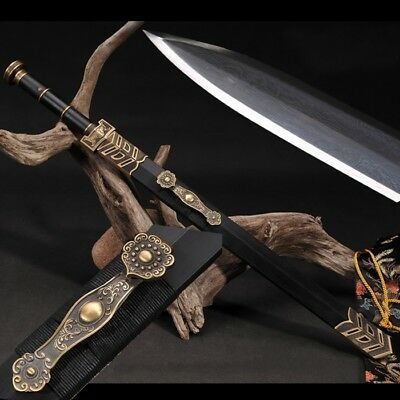 Chinese Warring States Periods Style Sword Pattern steel sharp Ebony wood #1774