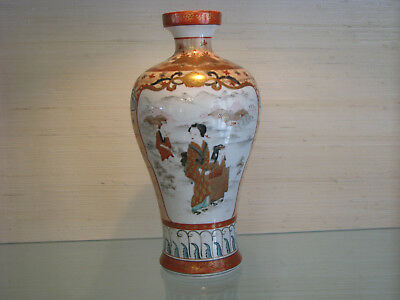 Antique Japanese Porcelain Kutani Vase