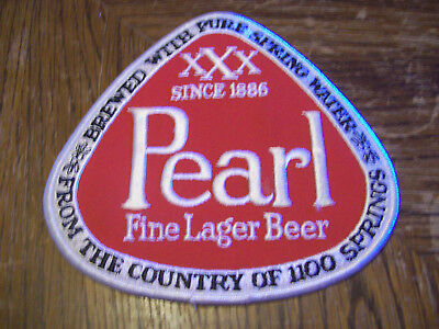 Large Vintage Pearl Fine Lager Beer Patch From The Country Of 1100 Springs