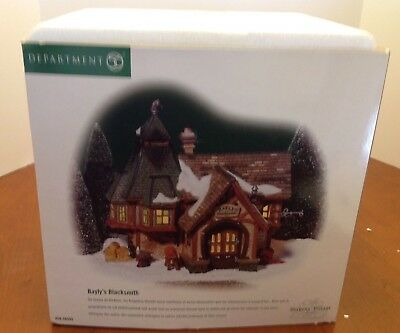 NEW Dept. 56 BAYLY'S BLACKSMITH Dickens' Village #58495 2001 ALL ORIGINAL