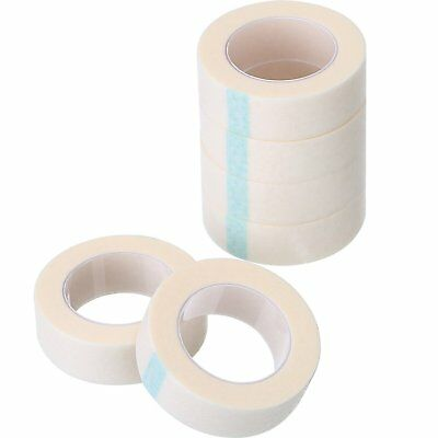 6 Rolls Eyelash Tape White Paper Fabric Eyelash Tape for Eyelash Extension Suppl