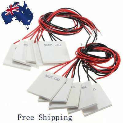 10X 12V 60W TEC1-12706 Heatsink Thermoelectric Cooler Peltier Cooling Plate Bc