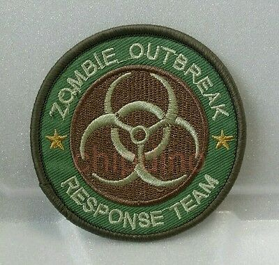 Zombie Hunter Outbreak Response Team Biohazard Tactical Multicam Iron On Patch