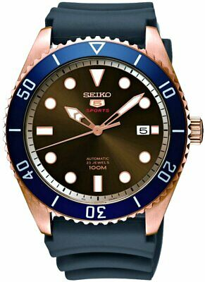 5d7e4249f SEIKO 5 NEO Sports Automatic Rose Gold Brown Dial SRPB96K1 - $349.00 ...