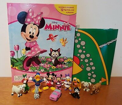 Disney Minnie Mouse My Busy Book + 12 Character Figurines & Playmat