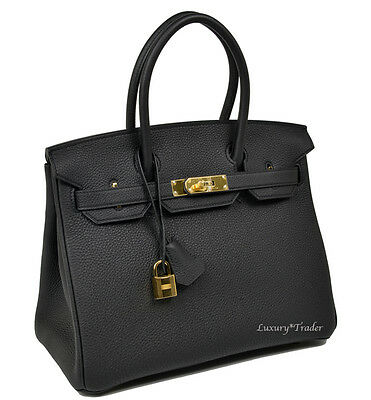 3beb2d94f410 BNIB NEW AUTHENTIC HERMES BIRKIN 30cm BLACK NOIR TOGO LEATHER GHW HANDBAG  BAG